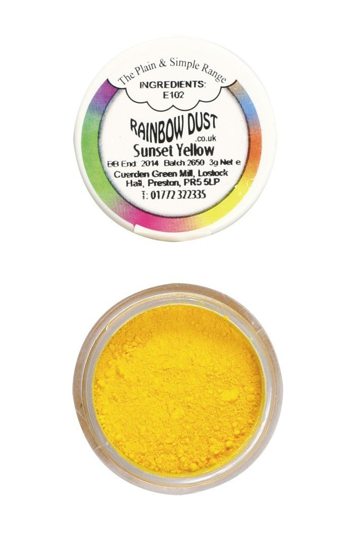 Rainbow Dust - Edible Dust Matt Sunset Yellow - Βρώσιμη Σκόνη Ματ Κίτρινη Δύση Ηλιου