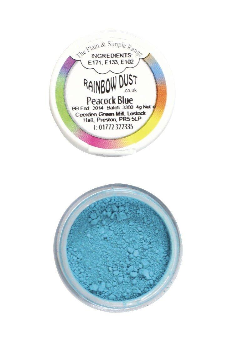 Rainbow Dust Edible Dust -Matt PEACOCK BLUE -Βρώσιμη Σκόνη Ματ Μπλε Παγώνι