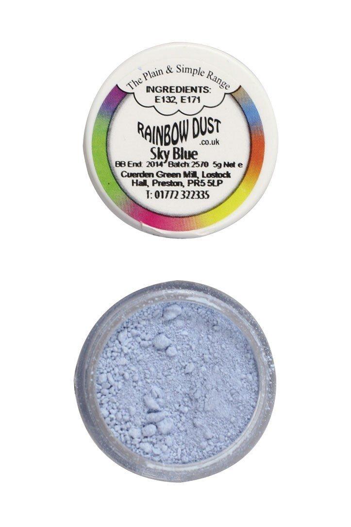 SALE!!! Rainbow Dust - Edible Dust Matt Sky Blue - Βρώσιμη Σκόνη Ματ Μπλε του Ουρανού