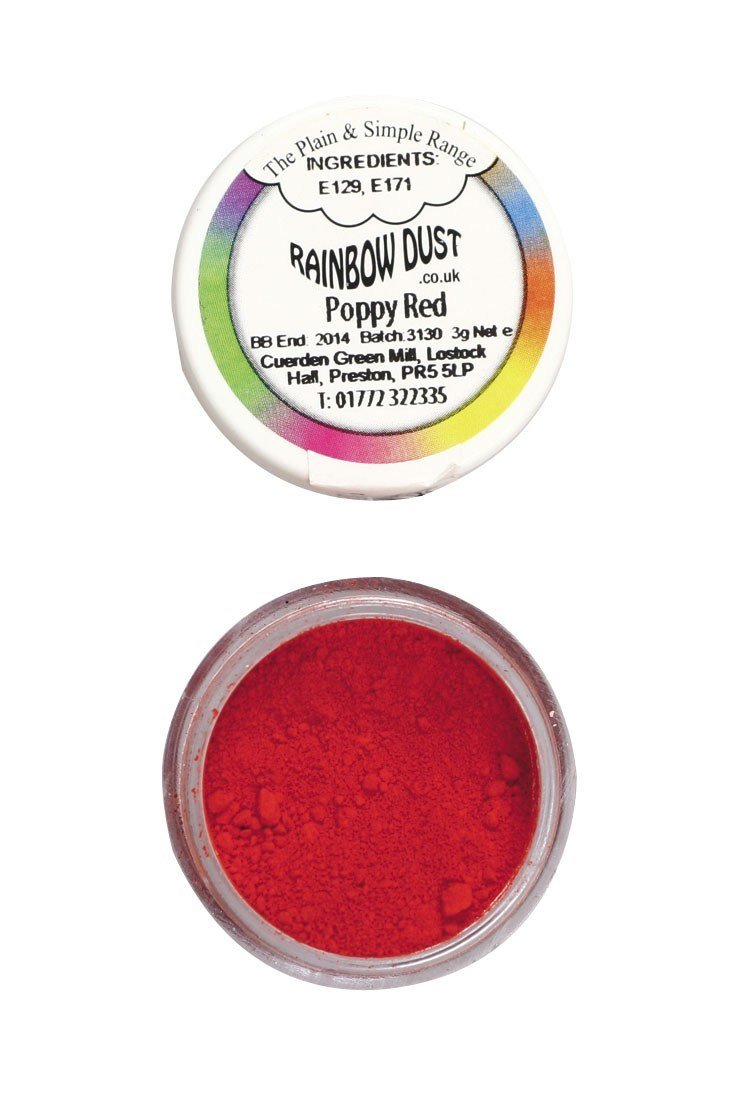 SALE!!! Rainbow Dust - Edible Dust Matt Poppy Red - Βρώσιμη Σκόνη Ματ Κόκκινο Παπαρούνας