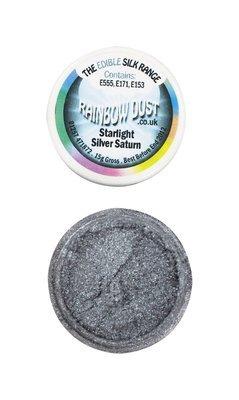 SALE!!! Rainbow Dust -Edible Dust- Starlight Silver Saturn -Βρώσιμη Σκόνη - Αστραφτερό Ασημένιο Κρόνο