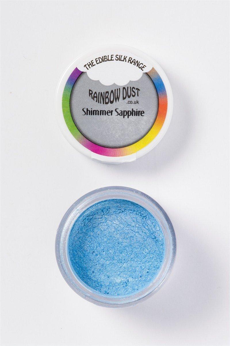 Rainbow Dust - Edible Dust Silk Range Shimmer Sapphire - Βρώσιμη Σκόνη Μεταξένια Μπλε Ζαφείρι