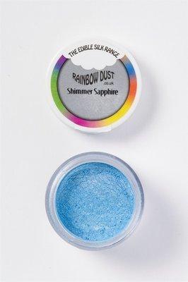 Rainbow Dust Edible Dust -Shimmer SAPPHIRE - Βρώσιμη Σκόνη Μεταξένια Μπλε Ζαφείρι