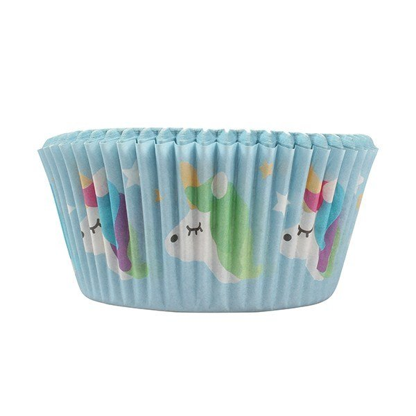 Themed Baking Cases -Foil Lined Baking Cases - 24 piece -UNICORN θήκες ψησίματος μεταλλικές μονόκερος 24τεμάχια 50χιλ
