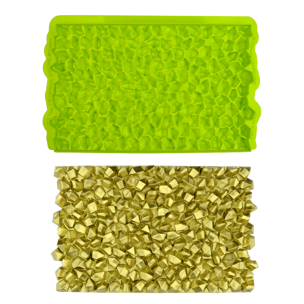 Marvelous Molds SIMPRESS Embossing Mat -DIAMONDS IN THE ROUGH ROCK CANDY -Καλούπι Ανάγλυφο Πατάκι Ακατέργαστα Διαμάντια/Ζαχαρωτά