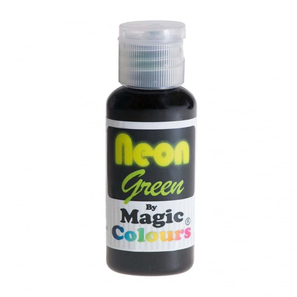 Magic Colours Paste Gel Colours 32g NEON GREEN