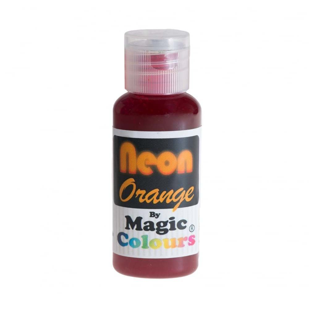 Magic Colours Gel -NEON ORANGE -Φωσφοριζέ Πάστα/Ζελέ -Πορτοκαλί 32γρ
