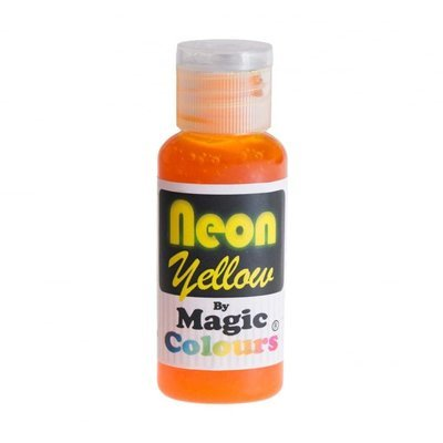 Magic Colours Gel -NEON YELLOW -Φωσφοριζέ Πάστα/Ζελέ -Κίτρινο 32γρ