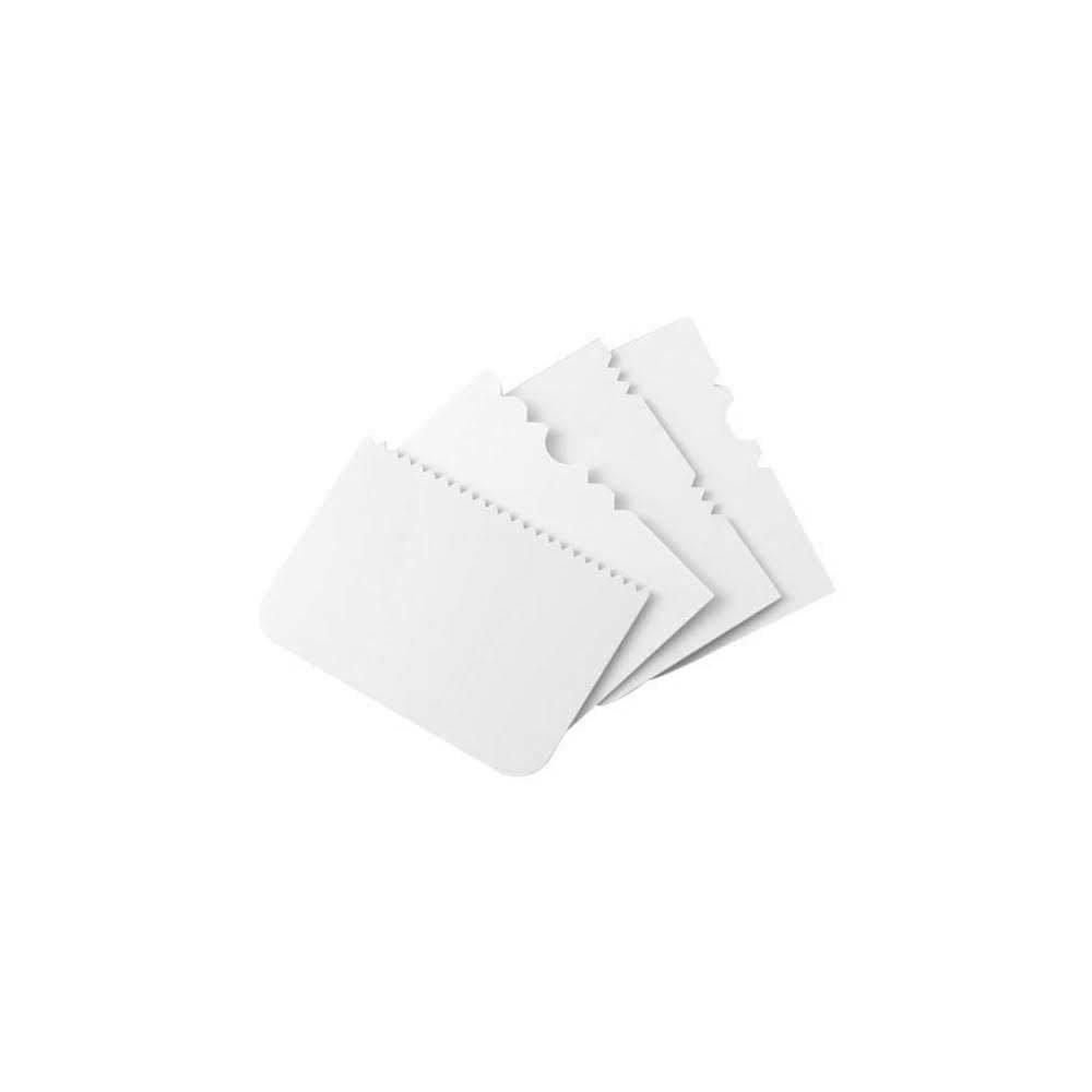 PME Scrapers -Set of 4 -PATTERNED -Σπάτουλα Ξύστρα Διαφόρων Σχεδίων 4 τεμ