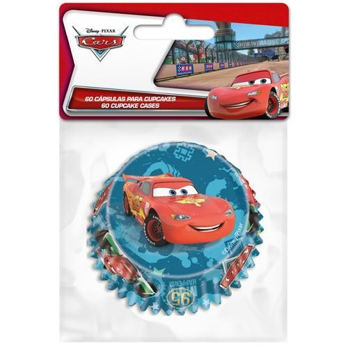Themed Baking Cases -Lightening McQueen. Cars. Pack of 60 θήκες ψησίματος Μακγουίν 5x3.5εκ
