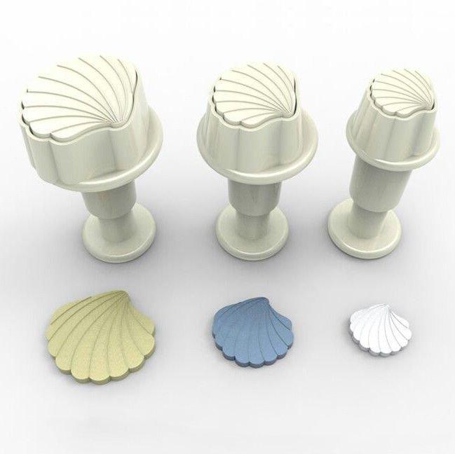 Plunger Cutter Mini Shells 3pcs - Κουπάτ με Εκβολέα Μίνι Κοχυλάκια - 3τεμ/πακέτο - 1.4 + 1.9 + 2.1εκ