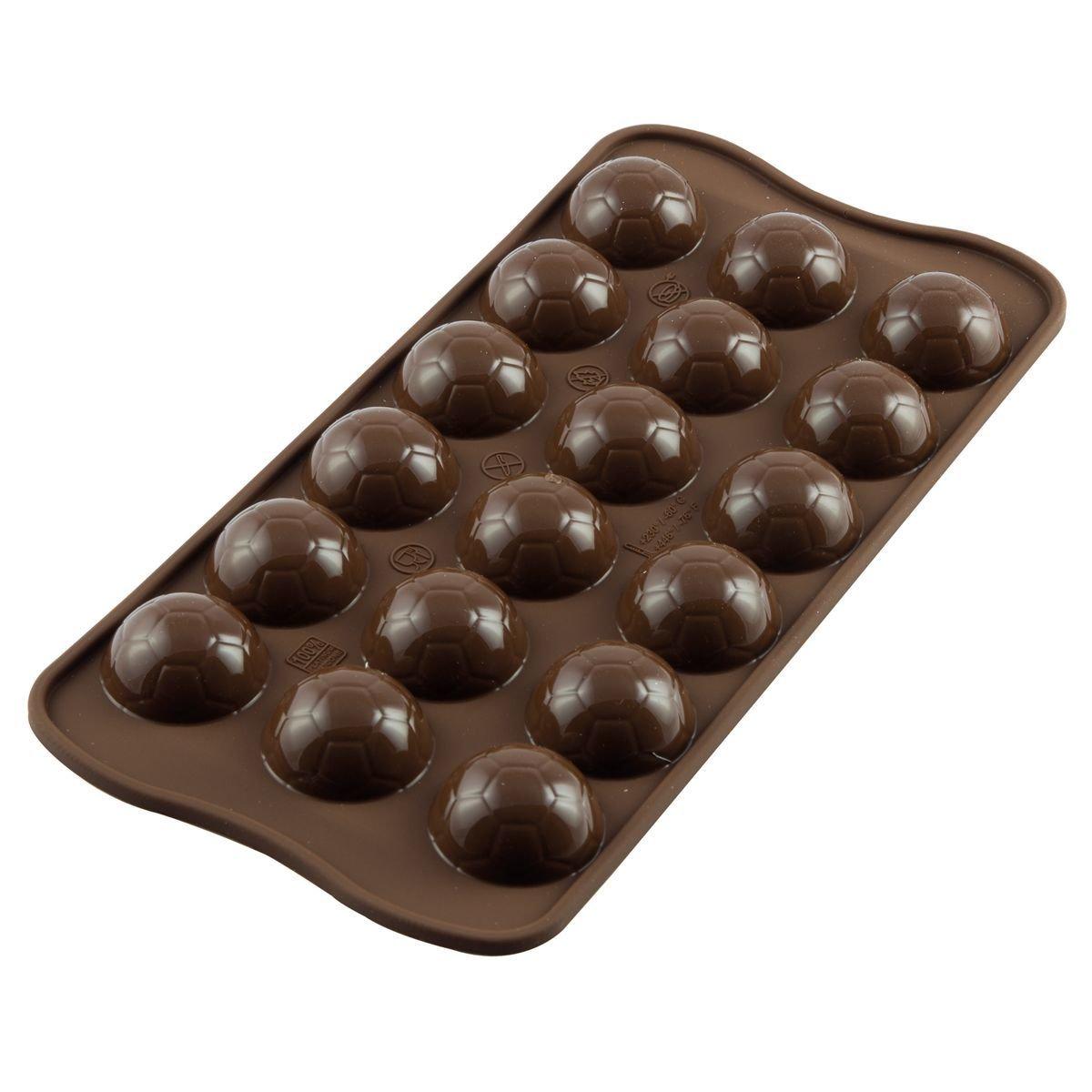 Silikomart Chocolate Mould Choco Goal - Καλούπι Σοκολάτας Ποδοσφαιρική Μπάλα - 2.7x1.35εκ