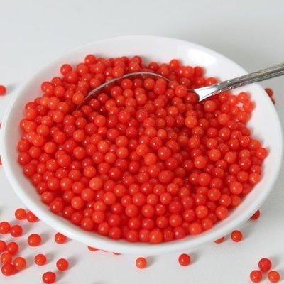 FunCakes Sugarballs -4mm RED 80g Κόκκινες Ζαχαρένιες Μπιλίτσες/Πέρλες