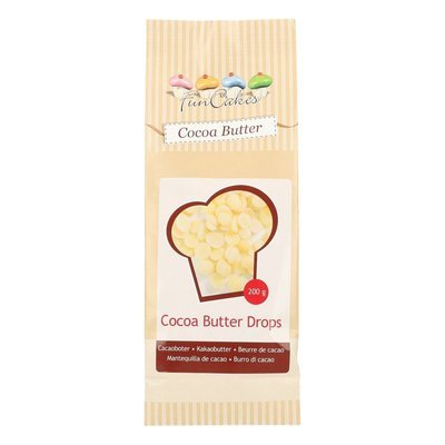 Funcakes - Cocoa butter Drops 200g - Βούτυρο Κακάο