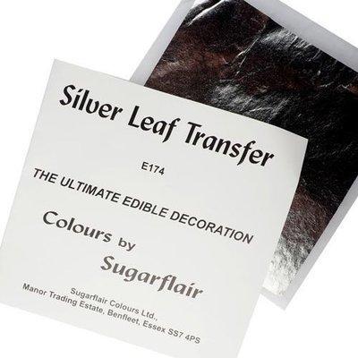 Sugarflair Transfer Leaf -SILVER x1 Βρώσιμο ασημένιο φύλλο 8x8εκ