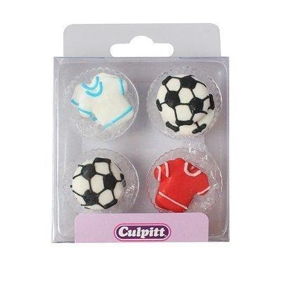 Culpitt - Sugar Pipings Football & Shirt 12pcs - Ζαχαρένια Διακοσμητικά - Ποδόσφαιρο - 12τεμ/πακέτο - 25χιλ