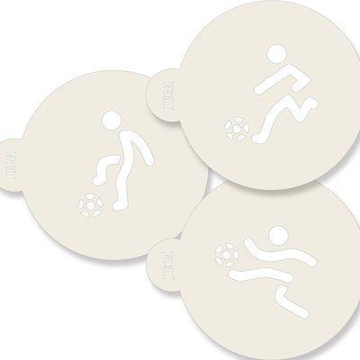 JEM Stencil -Set Of 3 FOOTBALL Designs -Στένσιλ Ποδόσφαιρο 3 τεμ