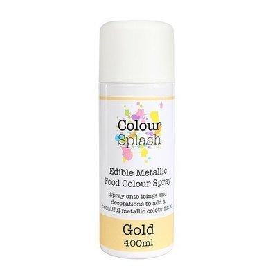Colour Splash Edible SPRAY -METALLIC GOLD 400ml -Βρώσιμο Σπρέϊ με Χρώμα -Μεταλλικό Χρυσό