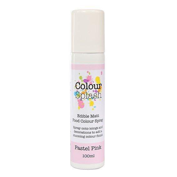 Colour Splash SPRAY -MATT PASTEL PINK 100ml Βρώσιμο Σπρέϊ με Χρώμα -Roz Παστέλ Ματ