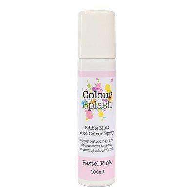 Colour Splash Edible SPRAY -MATT PASTEL PINK -100ml Βρώσιμο Σπρέϊ με Χρώμα -Roz Παστέλ Ματ