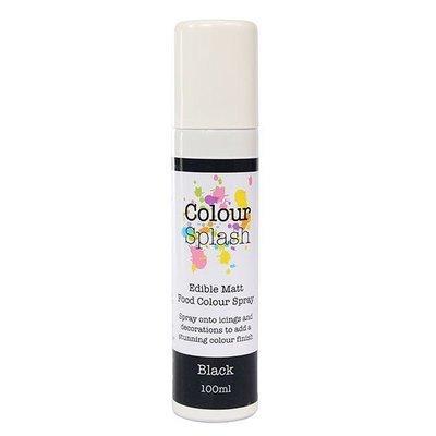 Colour Splash Edible SPRAY -MATT BLACK 100ml Βρώσιμο Σπρέϊ με Χρώμα -Μαύρο Ματ