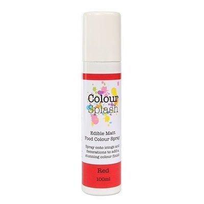 Colour Splash Edible SPRAY -MATT RED -100ml Βρώσιμο Σπρέϊ με Χρώμα -Κόκκινο Ματ