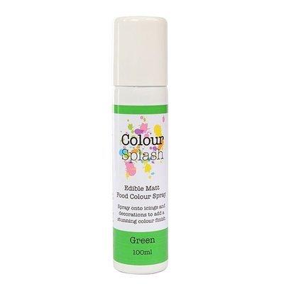 Colour Splash Edible SPRAY -MATT GREEN 100ml Βρώσιμο Σπρέϊ με Χρώμα -Πράσινο Ματ