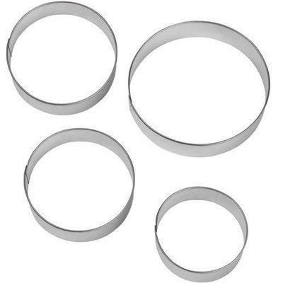 SALE!!! Wilton Cookie Cutters Set of 4 CIRCLES -Στρογγυλά μεταλλικά κουπάτ