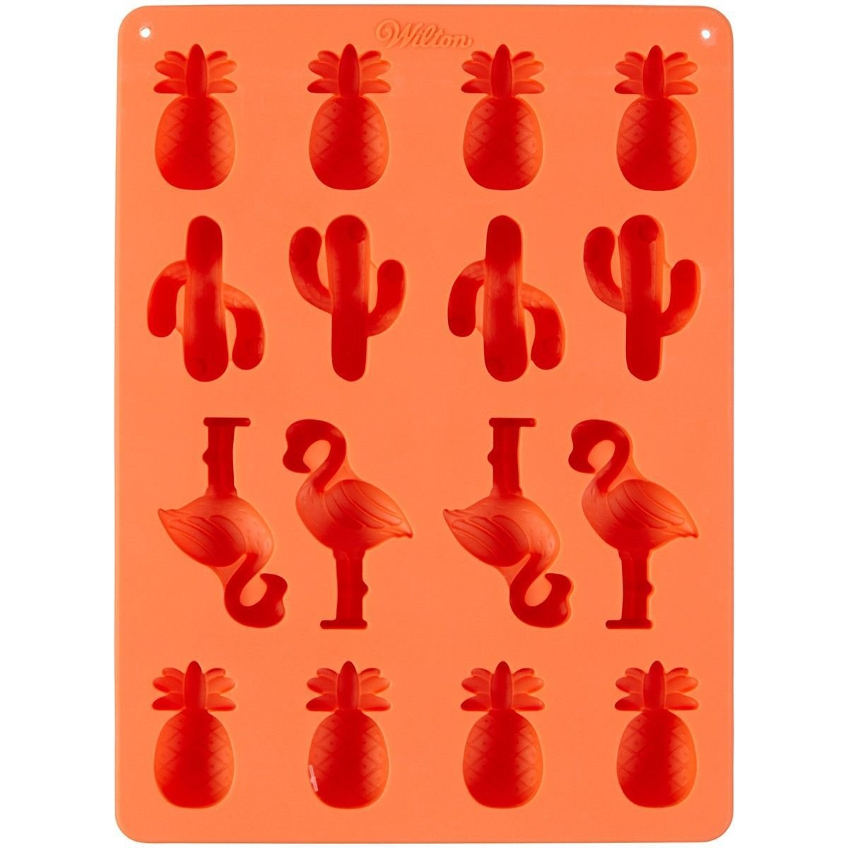 Wilton Silicone Candy Mould -PINEAPPLE, CACTI, FLAMINGO -Καλούπι σιλικόνης ανανά, κάκτο, φλαμίνγκο