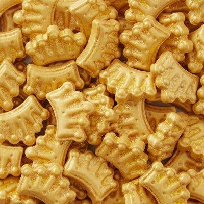 Wilton Sprinkles -GOLD CROWNS 56g βρώσιμα χρυσά στέμματα
