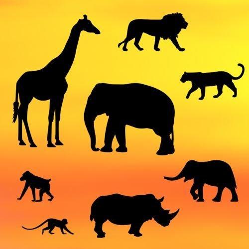 Patchwork Cutters - Safari Silhouette Set - Κουπάτ Σαφάρι - 8τεμ/πακέτο - Το Μεγαλύτερο 11.5εκ