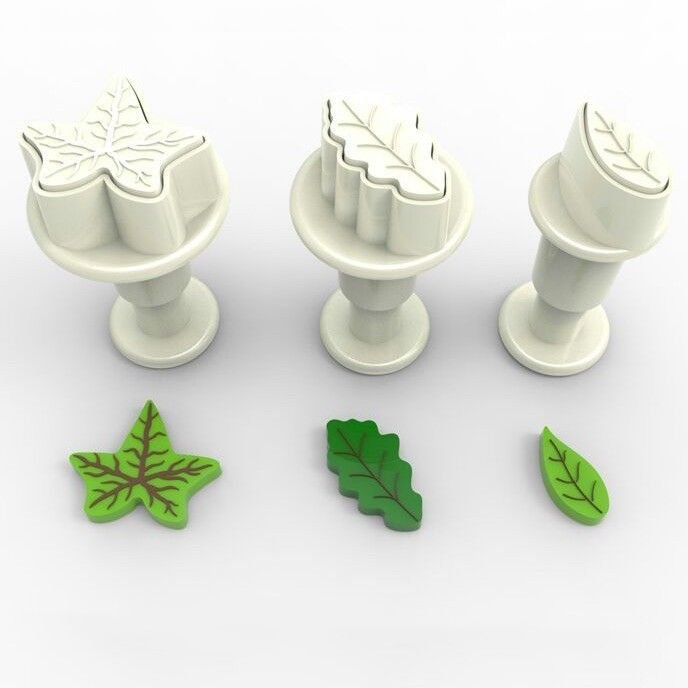 Plunger Cutter MINI LEAVES Set of 3