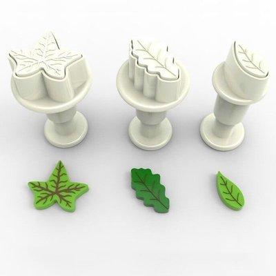 Plunger Cutter Mini Leaves 3pcs - Κουπάτ με Εκβολέα Μίνι Φυλλαράκια - 3τεμ/πακέτο - 1.4 + 1.9 + 2