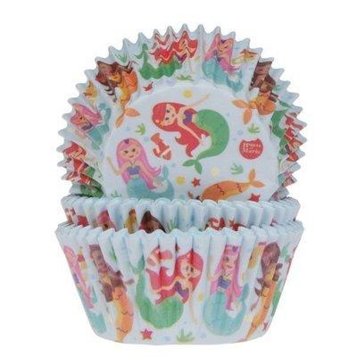 House of Marie Cupcake Cases -MERMAID -Θήκες Ψησίματος -Γοργόνα 50 τεμ