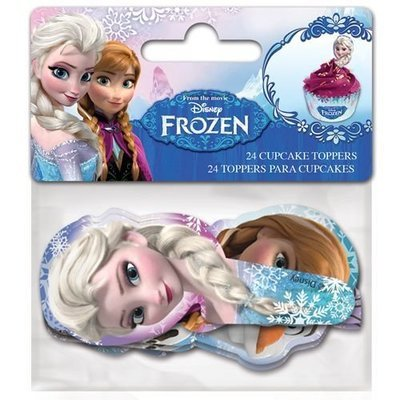 Paper Cupcake Toppers Frozen pack of 24 - Τόπερ για Κάπκεϊκ Φρόζεν - 24τεμ - 8.5x3.5εκ
