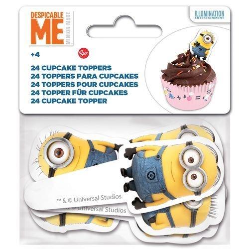 Paper Cupcake Toppers Minion -Τόπερ για Κάπκεϊκ Μινιόν - 24τεμ - Περίπου 8.5x3.5εκ