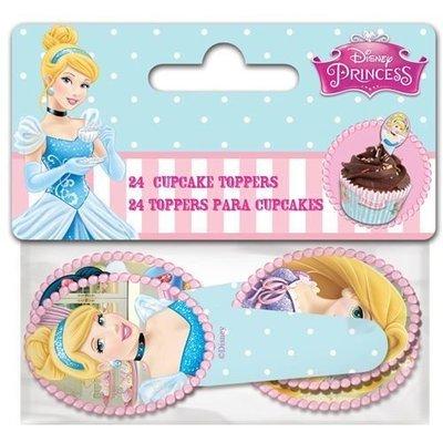 Paper Cupcake Toppers Princess pack of 24 - Τόπερ για Κάπκεϊκ Πριγκίπισσες - 24τεμ - Περίπου 8.5x3.5εκ