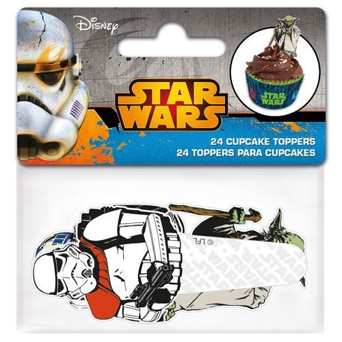Paper Cupcake Toppers Star Wars pack of 24 - Τόπερ για Κάπκεϊκ Πόλεμος των Άστρων - 24τεμ - 8.5x3.5εκ