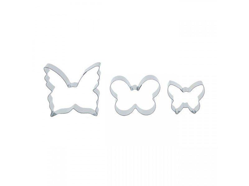 Blossom Art - Set of 3 Butterfly Cutters - Πεταλούδες σετ 3 Τεμαχίων Κουπάτ - 35-30-20χιλ