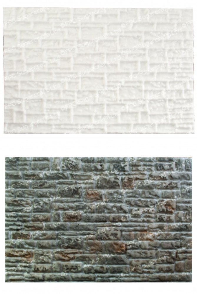 By FPC -Silicone Texture Mat -STONE WALL -Καλούπι Πέτρινο Τοίχος