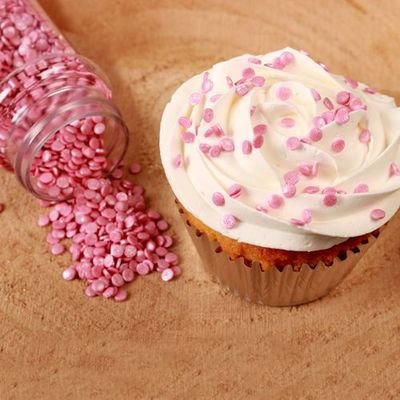 FunCakes Confetti Sprinkles -MINI METALLIC PINK -Κονφετί Ροζ Μεταλιζέ - 4χιλ 70γρ