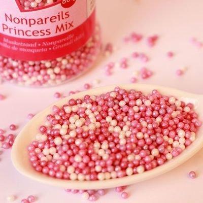 FunCakes Nonpareils -PRINCESS MIX -Κας-Κας Ροζ & Λευκά 80γρ