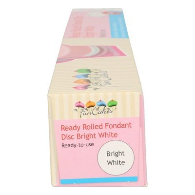 FunCakes Ready Rolled Fondant Disc -Bright White