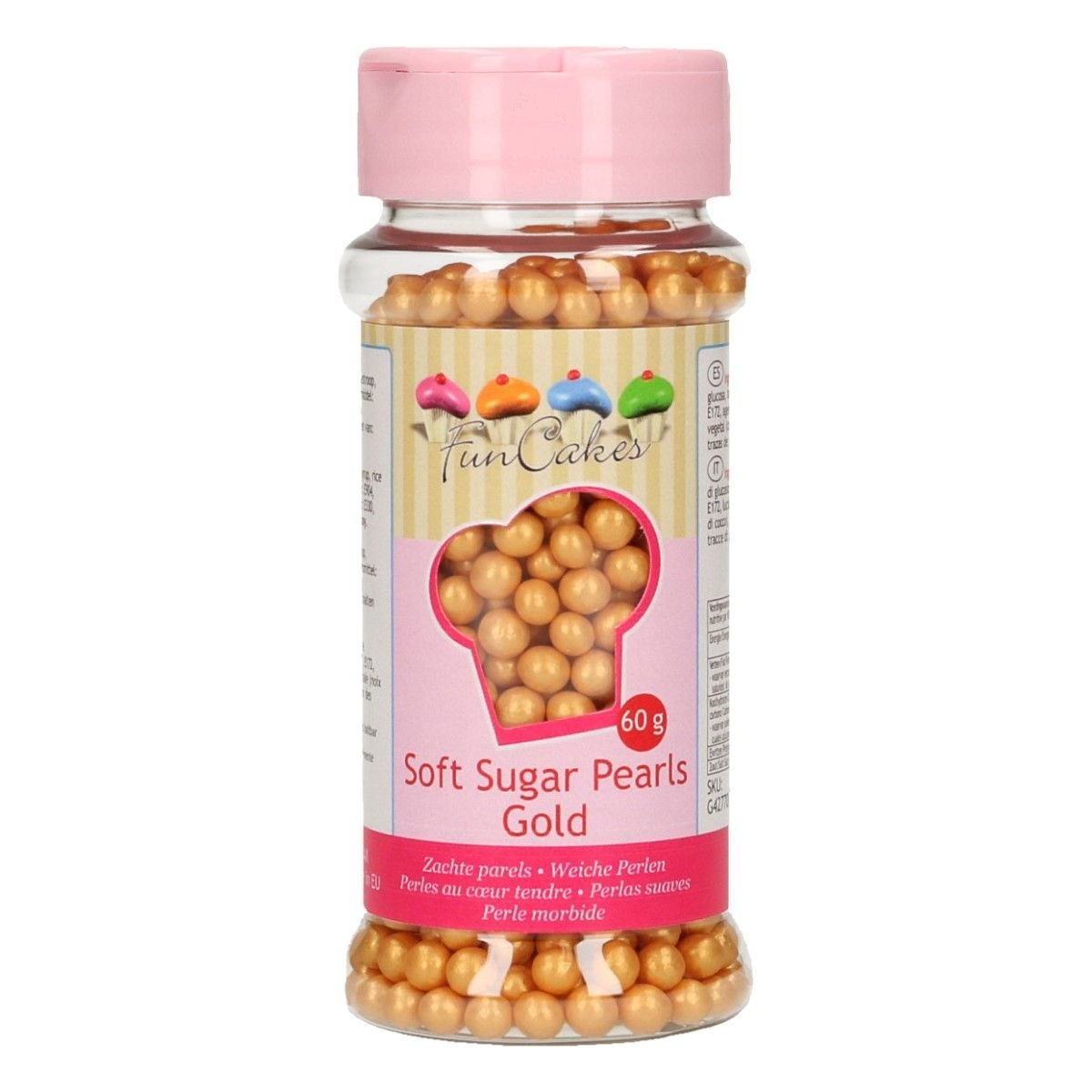 FunCakes Soft Pearls 4-6mm- Gold 60g