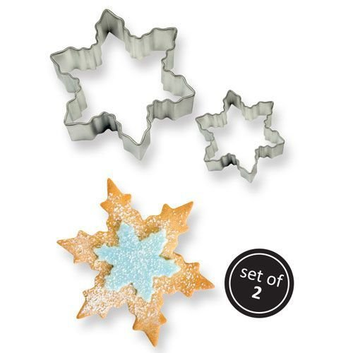 PME Cookie Cutters -Set of 2 -SNOWFLAKES -Κουπάτ Χιονονιφάδα 2 τεμ