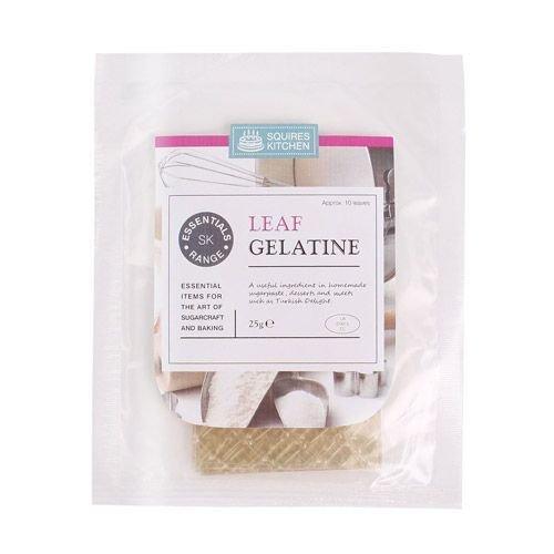 Squires Kitchen -Essentials Leaf Gelatine φύλλα ζελατίνης 10τεμάχια 23x7εκ