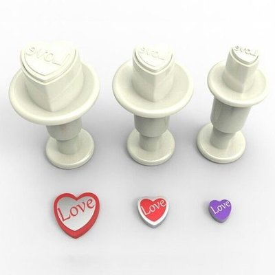 Dekofee Plunger Cutter -MINI LOVE HEARTS -Κουπάτ με Εκβολέα Μίνι Καρδούλες 3 τεμ