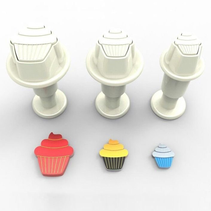 Plunger Cutter MINI CUPCAKES Set of 3