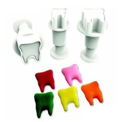 Plunger Cutter Mini Teeth 3pcs - Κουπάτ με Εκβολέα Μίνι Δοντάκια - 3τεμ/πακέτο - 1 + 1.4 + 1.5εκ