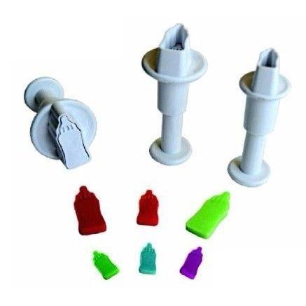 Plunger Cutter MINI BABY BOTTLE Set of 3